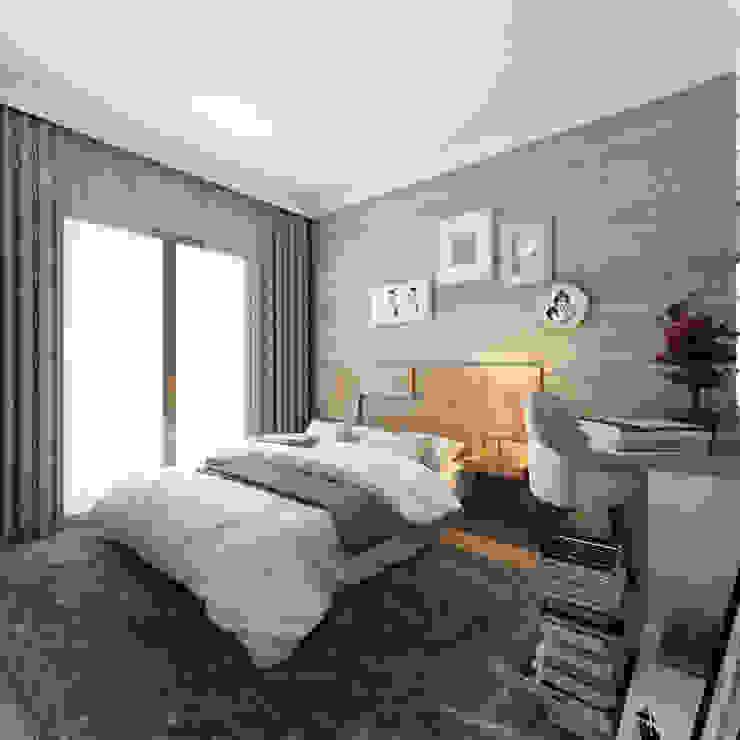 MİNERVA MİMARLIK – Yatak Odası:  tarz Yatak Odası,