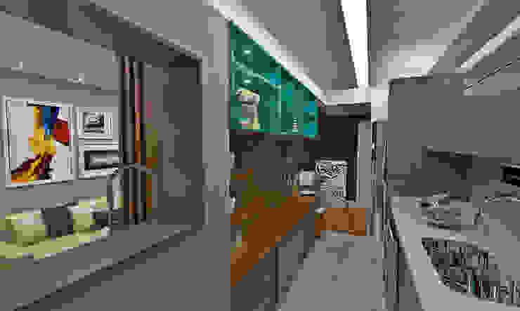 Cozinha Cozinhas ecléticas por Atelier Par Deux Eclético Mármore