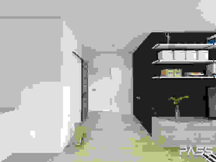 Industrial corridor, hallway & stairs by PASS architekci Industrial