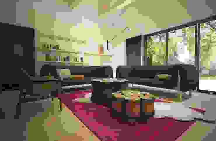 Salas de estar ecléticas por homify Eclético Madeira Efeito de madeira