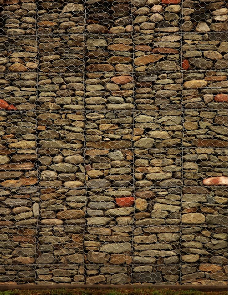 AGUIRRE+VAZQUEZ Rustic style houses Stone