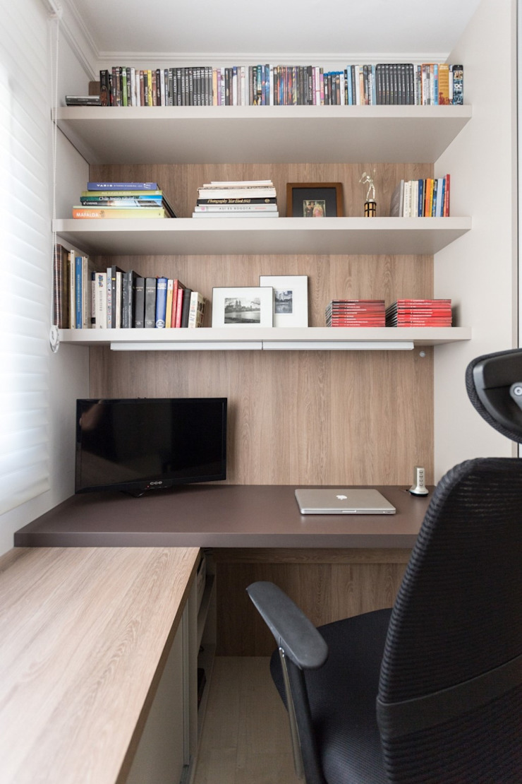 Modern Study Room and Home Office by Stefani Arquitetura Modern