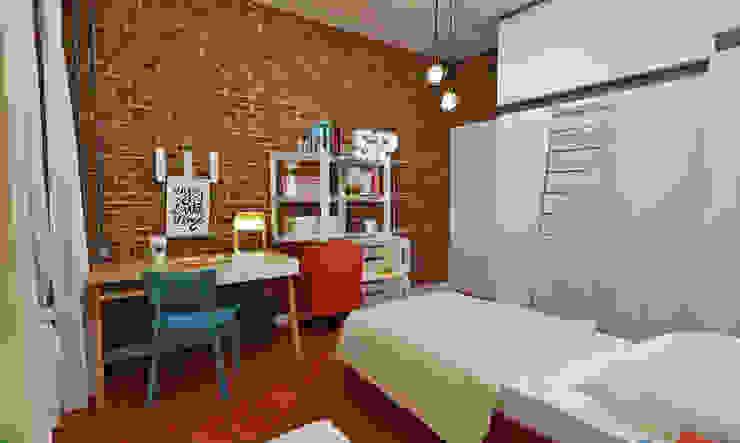 Atelier Par Deux Dormitorios de estilo industrial