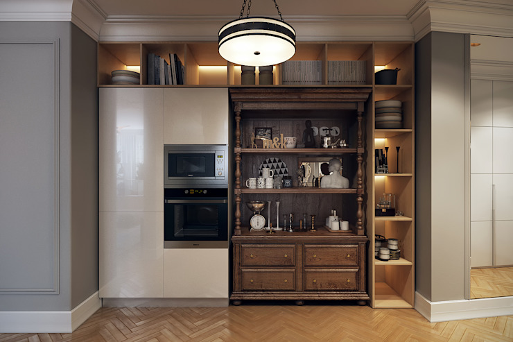 مطبخ تنفيذ homify, إنتقائي خشب Wood effect