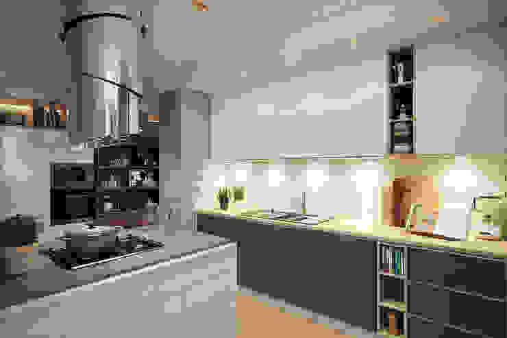 Cocinas de estilo  por Дарья Баранович Дизайн Интерьера
