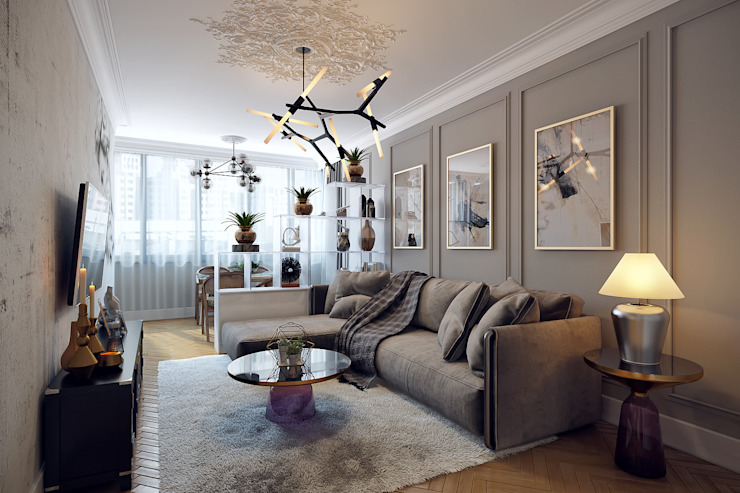 Living room by homify, Eclectic Wood Wood effect