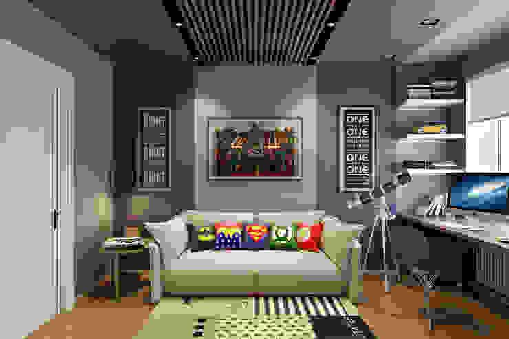 غرفة الاطفال تنفيذ homify, تبسيطي خشب Wood effect