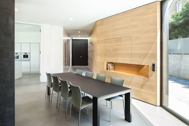 Modern Dining Room by ZHAC / Zweering Helmus Architektur+Consulting Modern Wood Wood effect