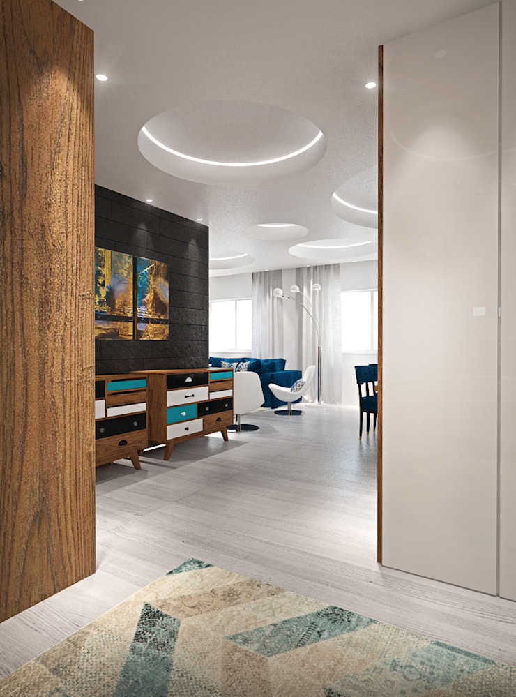 Hall Corredores, halls e escadas modernos por Tiago Martins - 3D Moderno