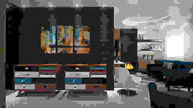 Sala : Salas de estar  por Tiago Martins - 3D,