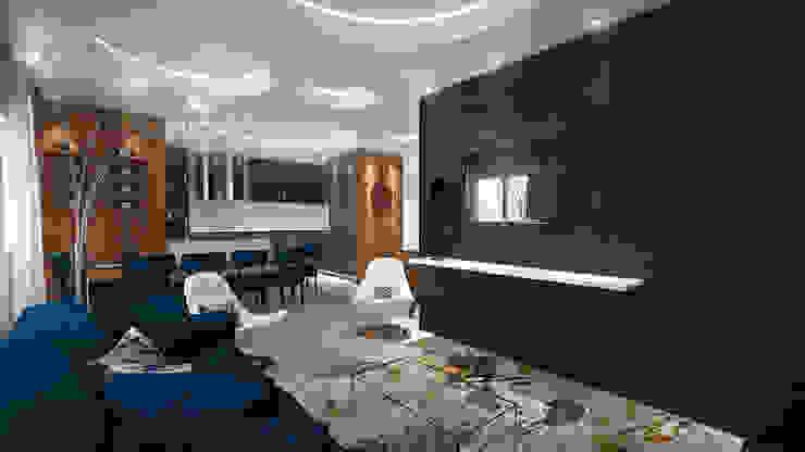 Sala Salas de estar modernas por Tiago Martins - 3D Moderno
