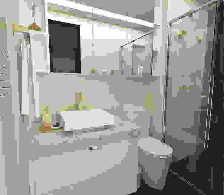 Atelier Par Deux Eclectic style bathroom Ceramic Beige