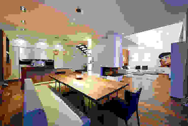 Haus E Moderne Esszimmer von ZHAC / Zweering Helmus Architektur+Consulting Modern