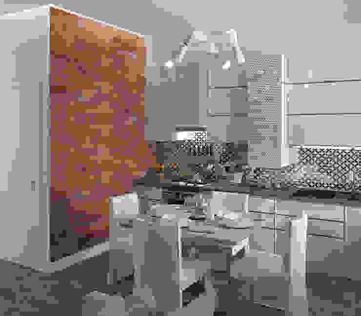 Cocinas de estilo minimalista de Yurov Interiors Minimalista Cobre/Bronce/Latón