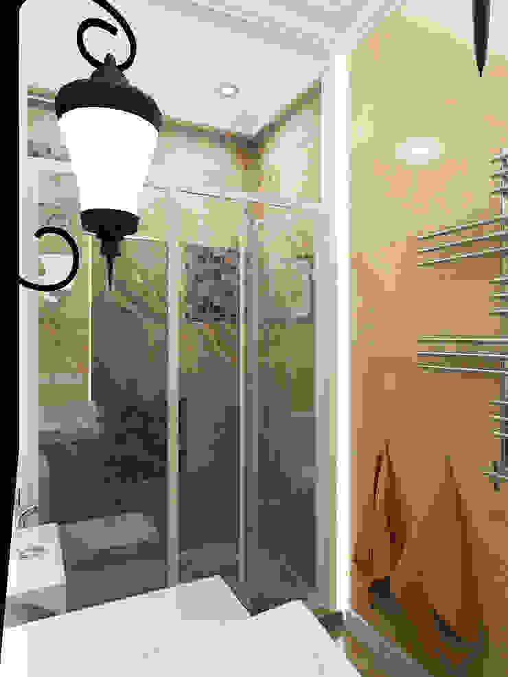 Ванная комната 1-го этажа Ванная в классическом стиле от Дизайн студия Александра Скирды ВЕРСАЛЬПРОЕКТ Классический