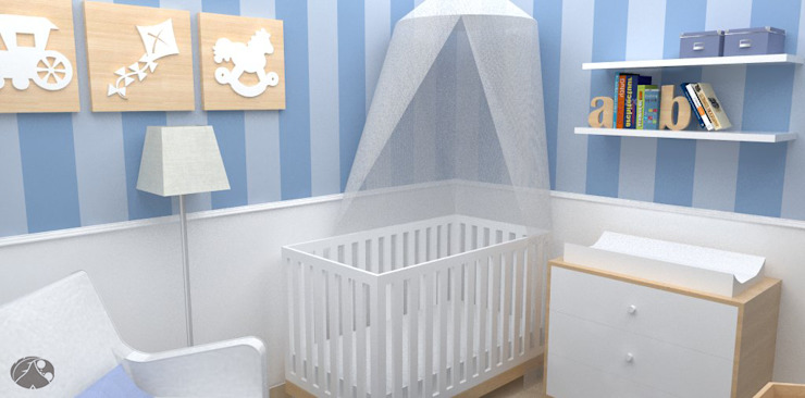 Nursery/kid's room by TRIBU ESTUDIO CREATIVO