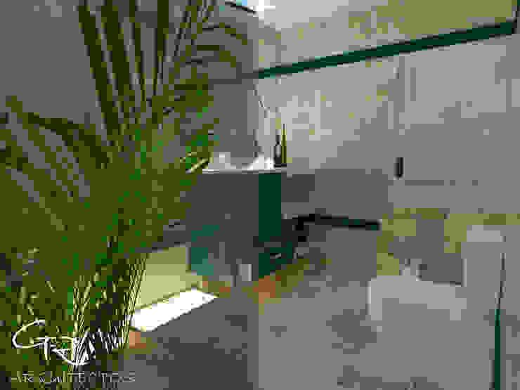 House Tempo: Baños de estilo  por GT-R Arquitectos ,