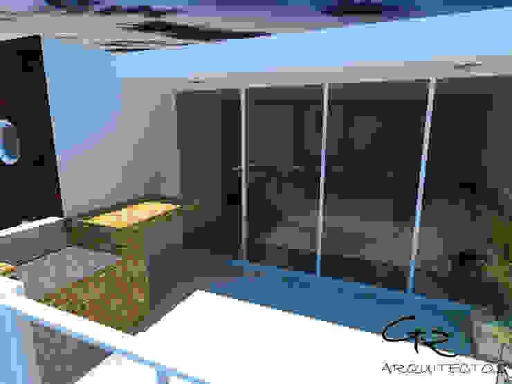 House Tempo Balcones y terrazas modernos de GT-R Arquitectos Moderno