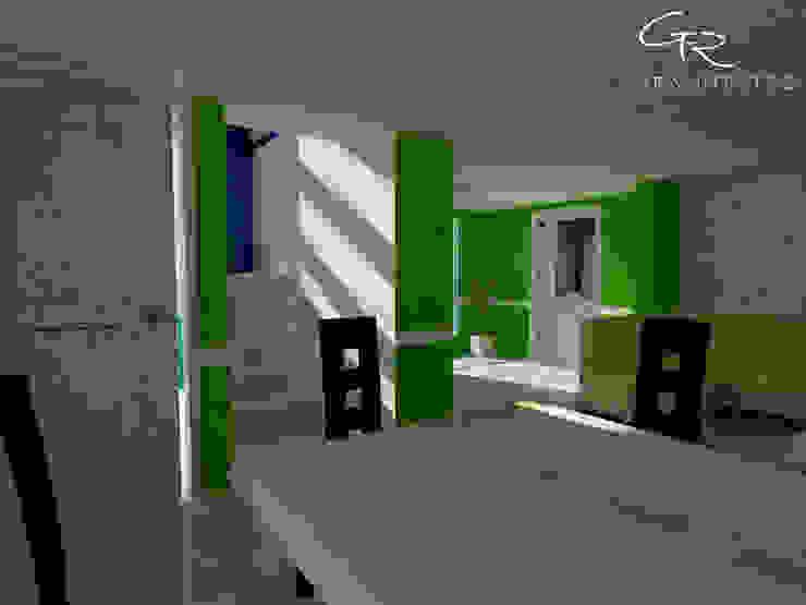 R-1 Pasillos, vestíbulos y escaleras modernos de GT-R Arquitectos Moderno
