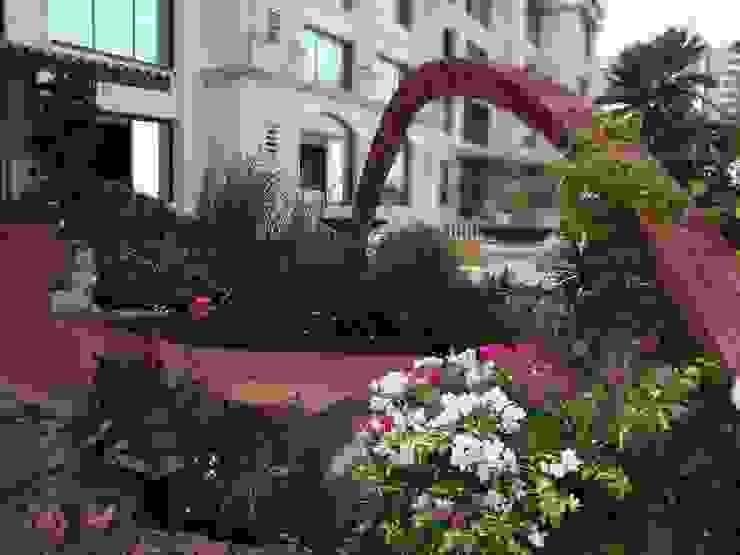 Brick arch Mediterranean style garden by The White Room Mediterranean