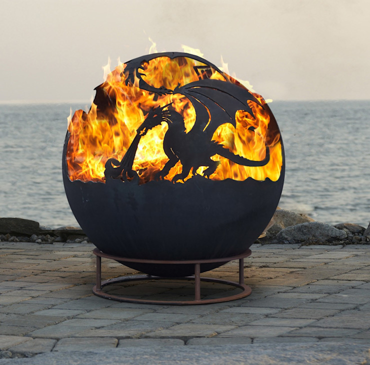 Dragon Fire Ball : rustic  by World Of Weave UK Ltd, Rustic Metal