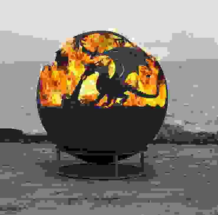 Dragon Fire Ball par World Of Weave UK Ltd Rustique Métal