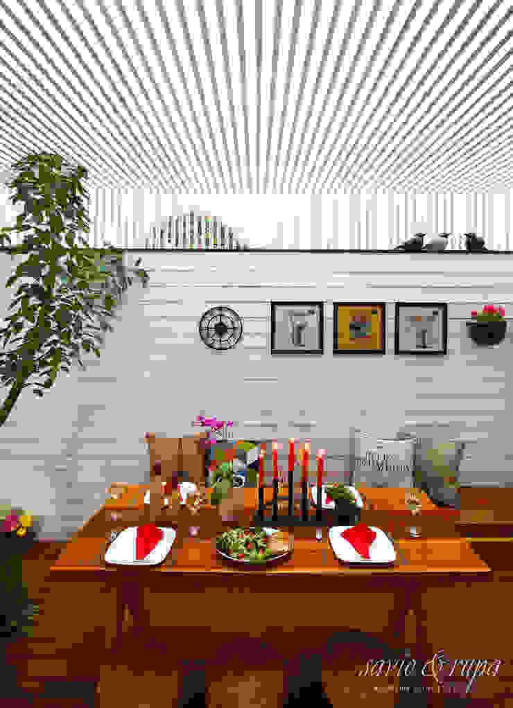 Alfresco Dining: scandinavian  by Savio and Rupa Interior Concepts ,Scandinavian