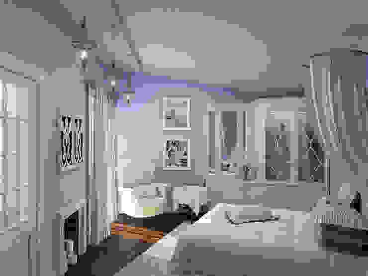 Mediterranean style bedroom by ELLE DESIGN STUDIO Mediterranean