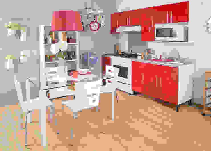 Cocina vanguardista de Idea Interior Moderno Aluminio/Cinc