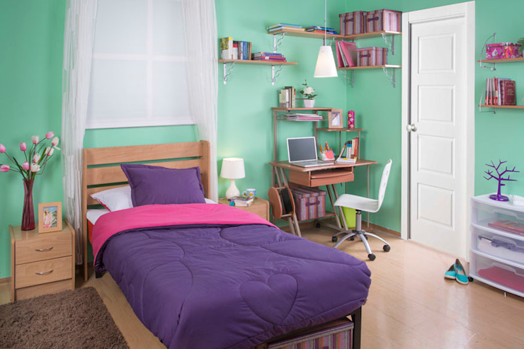 Idea Interior BedroomBeds & headboards Chipboard Purple/Violet