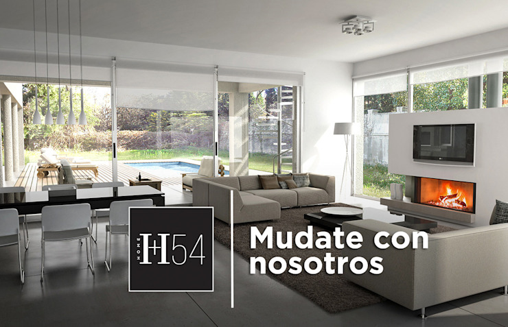 Home54 Salas de estilo moderno