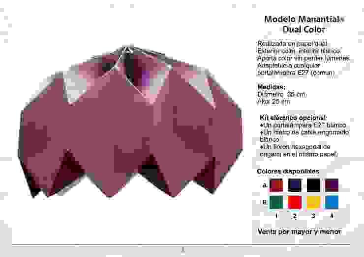 Modelo Manantial Dual Color de Izumi Moderno Papel