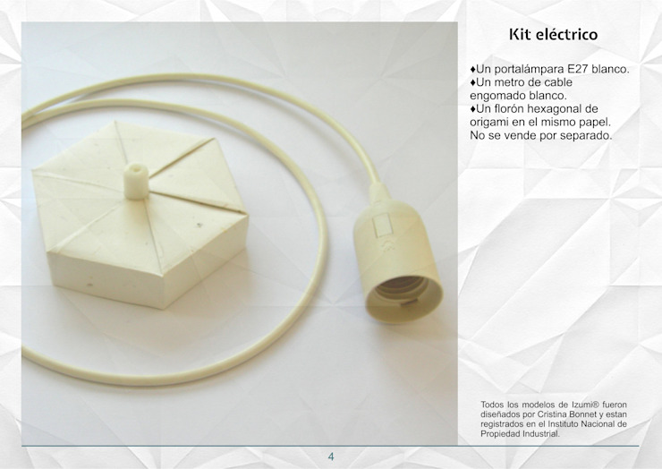 Kit eléctrico de Izumi Moderno Papel