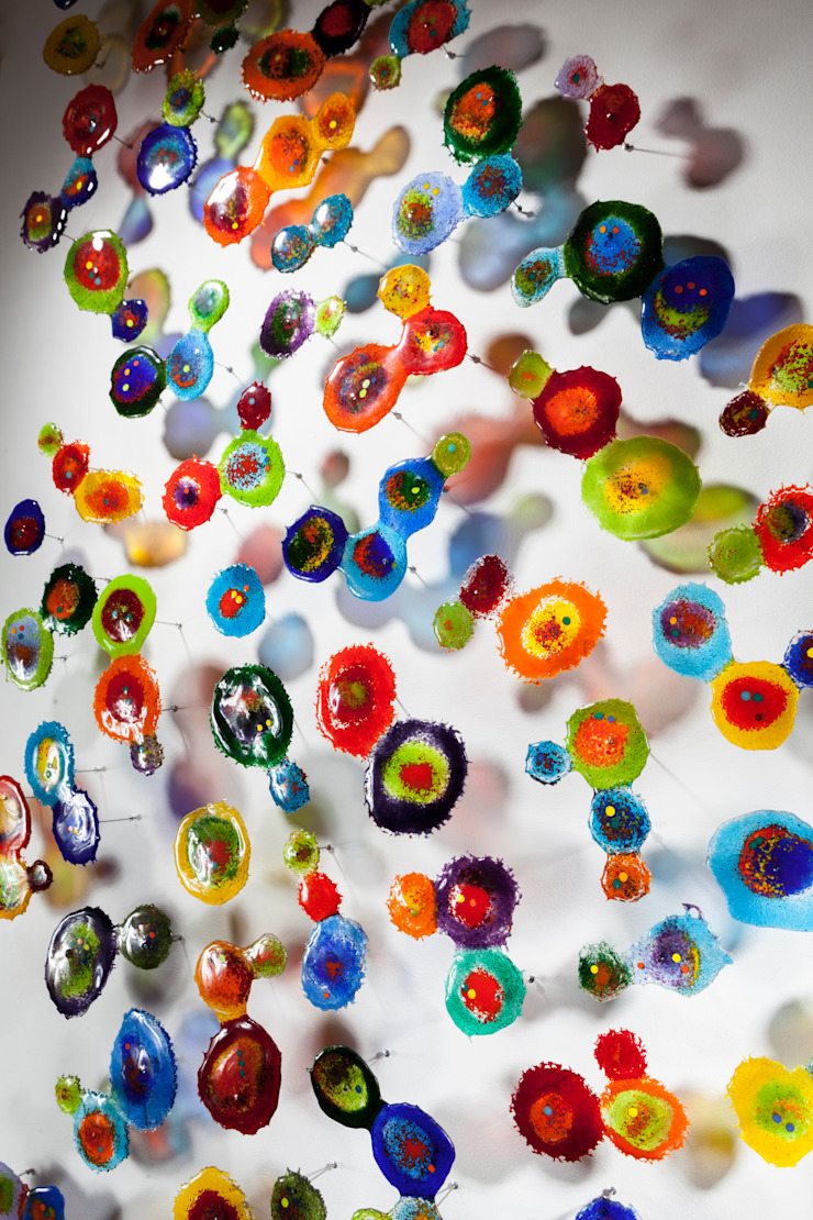 MANCHAS FLOTANTES de Ana Maria Nava Glass Minimalista