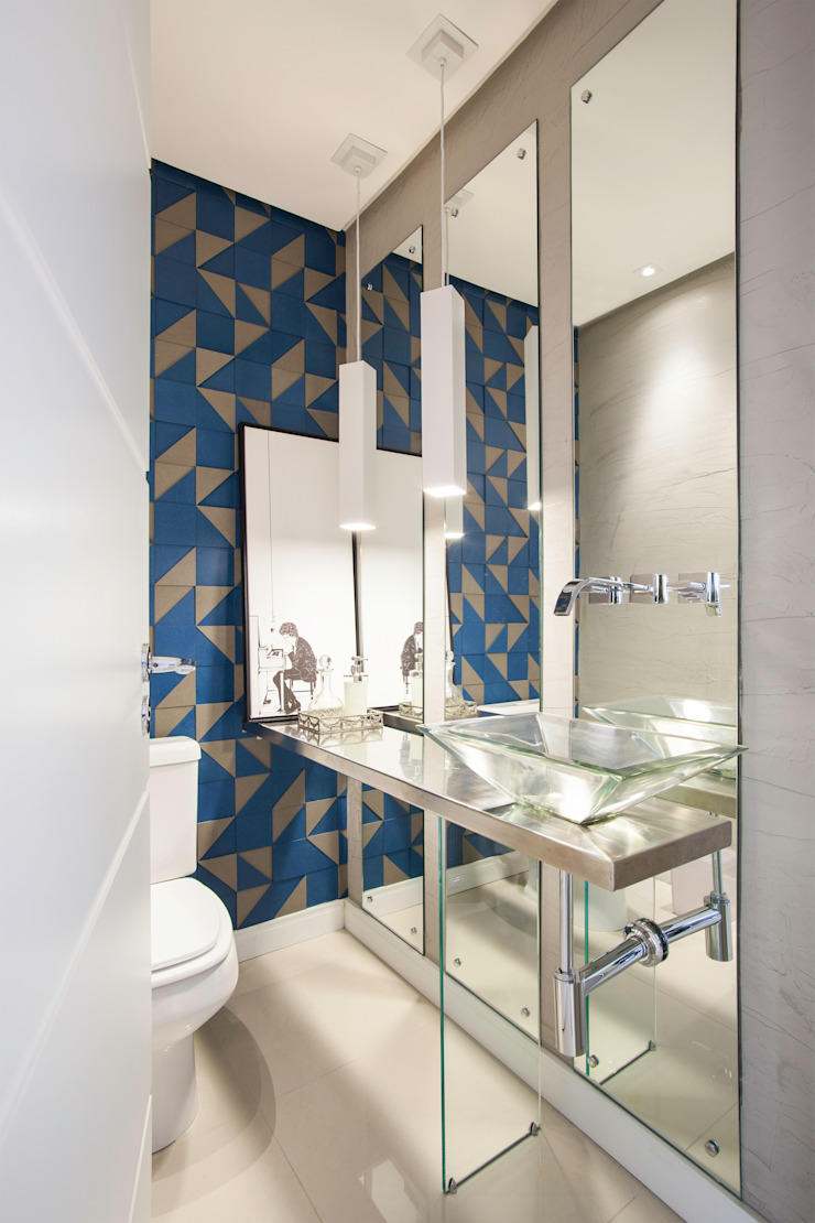 Johnny Thomsen Arquitetura e Design Eclectic style bathroom Iron/Steel Blue