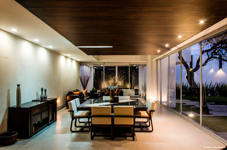 Modern dining room by BAG arquitectura Modern Wood Wood effect