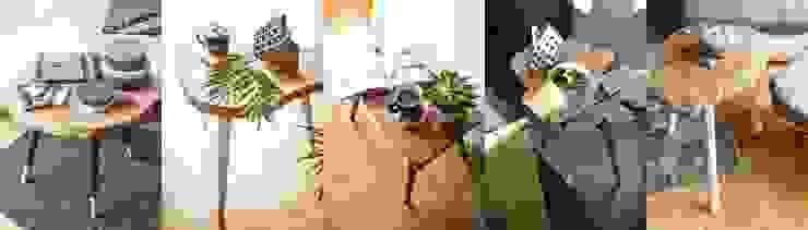 Coffee Tables by D2 Studio od D2 Studio Skandynawski Drewno O efekcie drewna