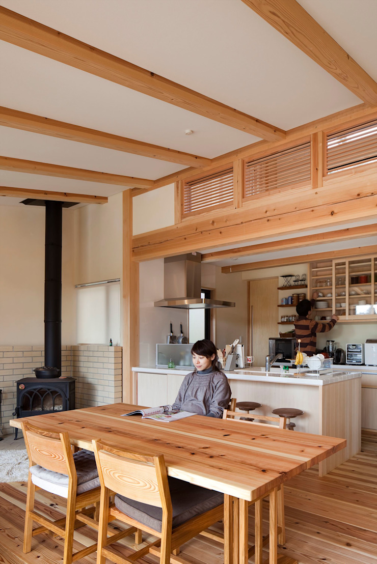 樹を繋ぐ家 の 大森建築設計室