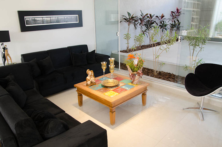 Residência SSC Salas de estar modernas por A/ZERO Arquitetura Moderno