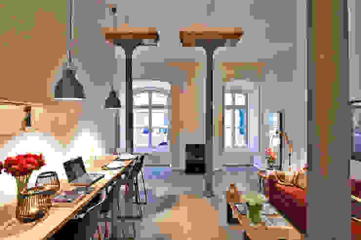 de estilo industrial por Pureza Magalhães, Arquitectura e Design de Interiores , Industrial