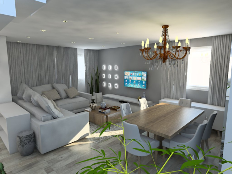 Scandinavian style dining room by Studio M Arquitetura Scandinavian