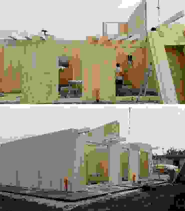 Cantiere 635: realizzazione di abitazione privata (VR) WoodLab Case moderne Legno