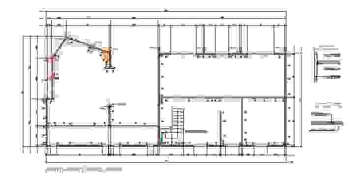 Progettazione strutturale edificio 635 WoodLab Case moderne Legno