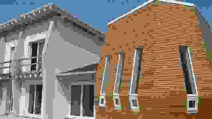 Edificio completato: sistema costruttivo X Lam WoodLab Case moderne Legno