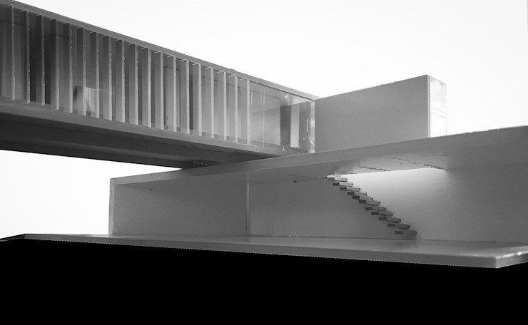 FOTO MAQUETA: desde PATIO de CCMP Arquitectura