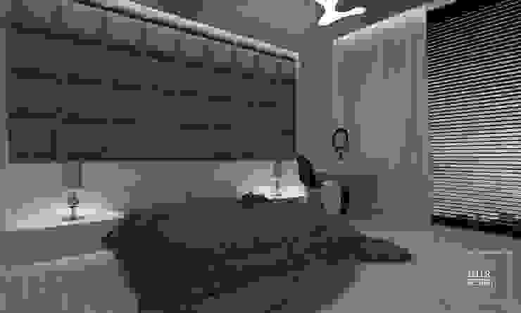 simple bedroom at sunset od Zeler Design Nowoczesny