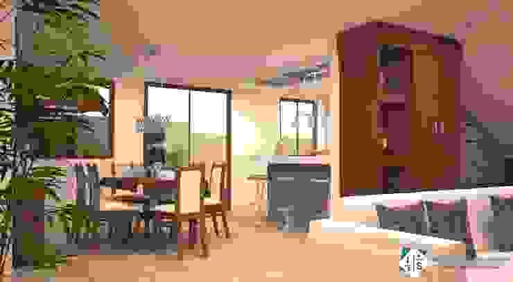 Sala da pranzo in stile classico di ISLAS & SERRANO ARQUITECTOS Classico