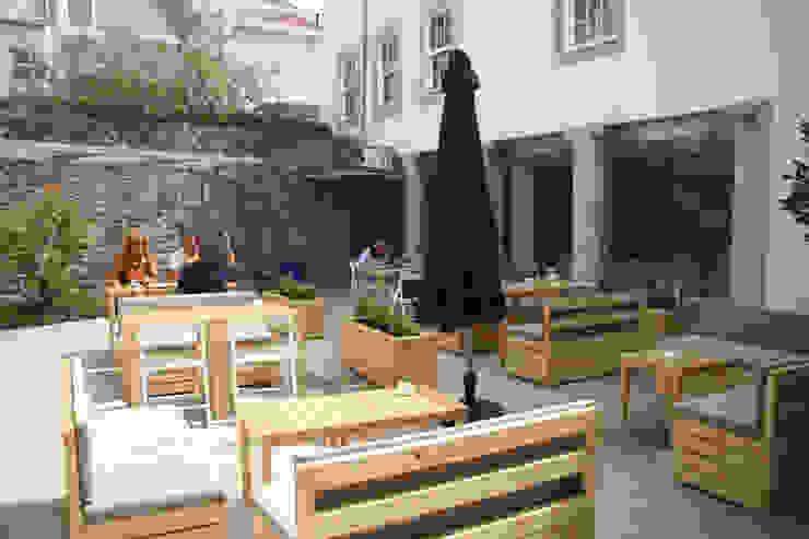 CASINHA BOUTIQUE CAFÉ I VIANA Espaços de restauração modernos por Habitat Arquitectura Paisagista Moderno