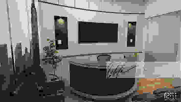 Recepción De Oficina Oficinas de estilo minimalista de Arq.AngelMedina+ Minimalista