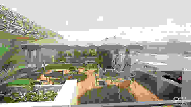 TERRAZA Balcones y terrazas de estilo minimalista de Arq.AngelMedina+ Minimalista
